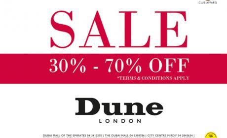 30% - 70% Sale at Dune, November 2015