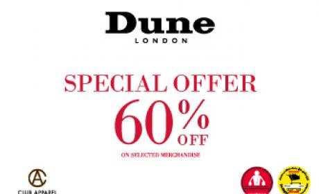 Up to 60% Sale at Dune, December 2015