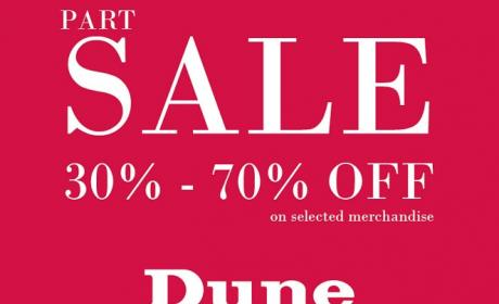 30% - 70% Sale at Dune, January 2016