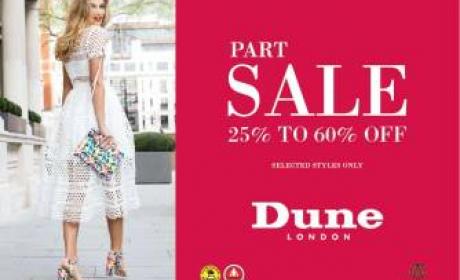 25% - 60% Sale at Dune, May 2016