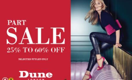 25% - 60% Sale at Dune, December 2016