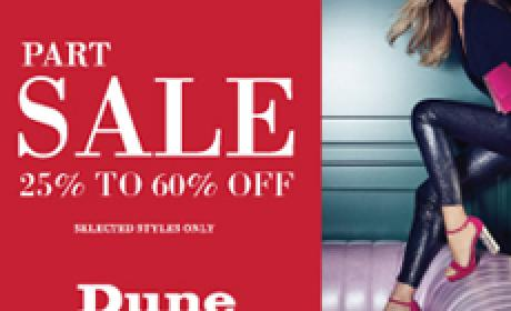 Up to 60% Sale at Dune, December 2016