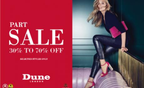 30% - 70% Sale at Dune, January 2017