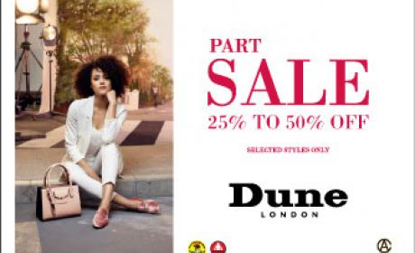Up to 50% Sale at Dune, April 2017