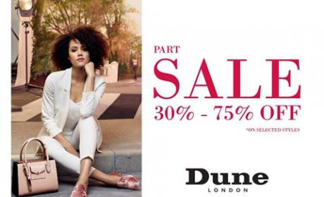 30% - 75% Sale at Dune, August 2017