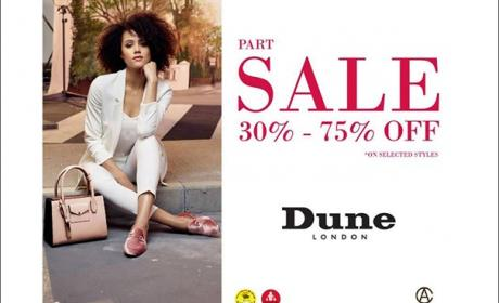 30% - 75% Sale at Dune, July 2017