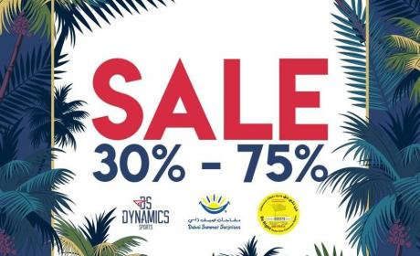 30% - 75% Sale at Dynamics Sports, August 2017