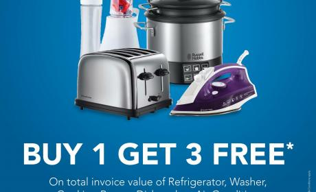 Buy 1 and get 3 Offer at E Max, August 2017