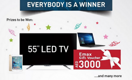 Spend 3000 and get a scratch coupon to win a guaranteed prize Offer at E Max, September 2016