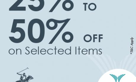 25% - 50% Sale at Elegant Man, April 2017