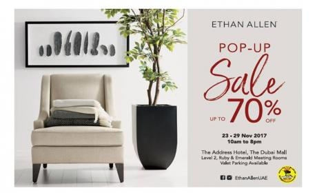Up to 70% Sale at Ethan Allen, November 2017