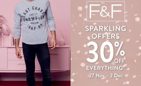 Up to 30% Sale at F & F, December 2017