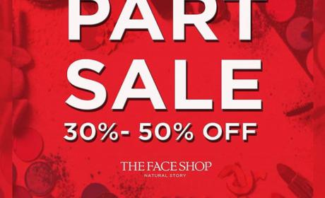 30% - 50% Sale at The Face Shop, August 2018