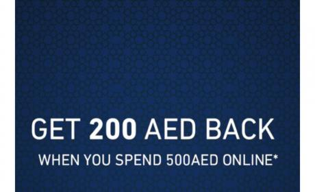 Spend 500 And Get 200 AED back Offer at Faces, June 2018