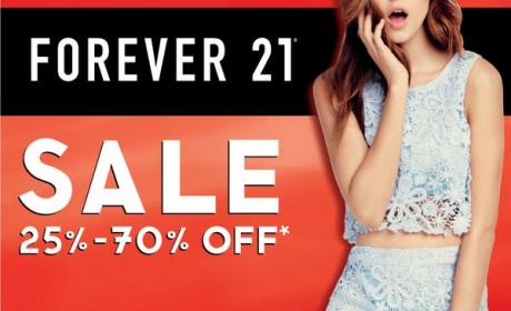 25% - 70% Sale at Forever 21, July 2014