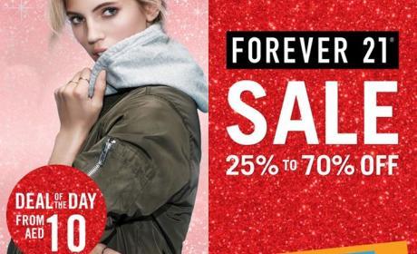 25% - 70% Sale at Forever 21, December 2016