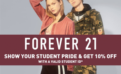 Special Offer at Forever 21, August 2017