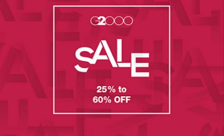 25% - 60% Sale at G2000, May 2017