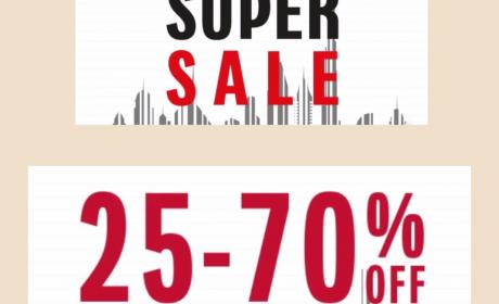 25% - 70% Sale at Galeries Lafayette, May 2018