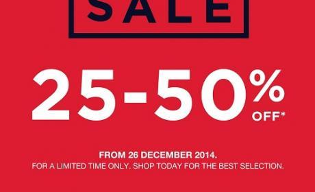 25% - 50% Sale at Gap, February 2015