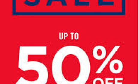 Up to 50% Sale at Gap, January 2017