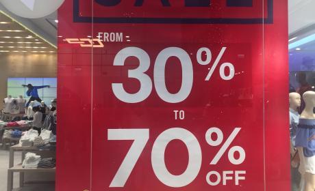 30% - 70% Sale at Gap, April 2017