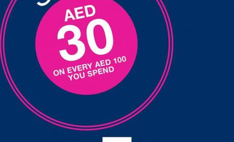 Spend 100 and save AED 30 Offer at Gap, April 2017