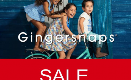 30% - 75% Sale at Gingersnaps, October 2017
