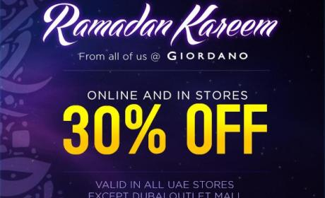 Up to 30% Sale at Giordano, June 2014