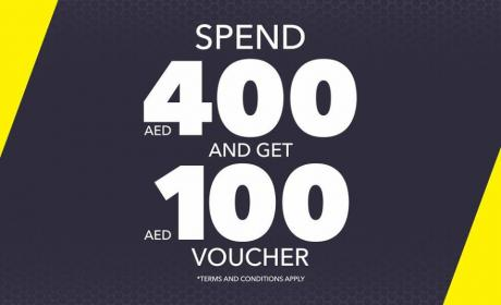 Spend 400 and get AED 100 Gift Voucher Offer at Go Sport, April 2017
