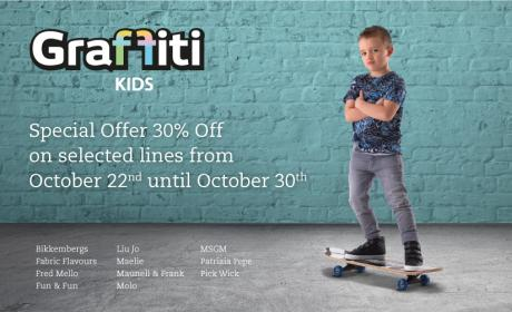 Up to 30% Sale at graffiti, October 2017