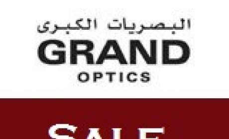 30% - 70% Sale at Grand Optics, August 2017