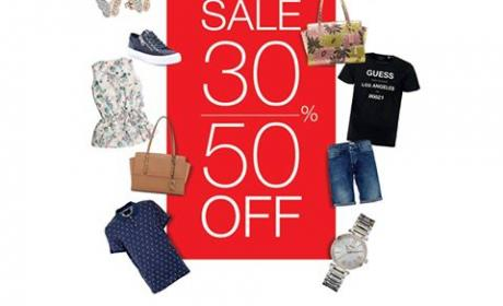 30% - 50% Sale at Guess, August 2017