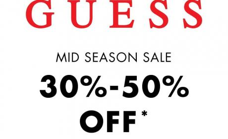 30% - 50% Sale at Guess, April 2018