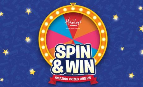 Spend 300 and spin the wheel and win super exciting prizes! Offer at Hamleys, June 2017