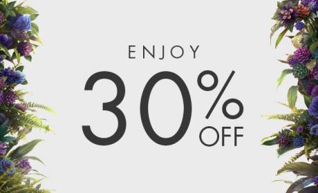 Up to 30% Sale at Harvey Nicolas, November 2017