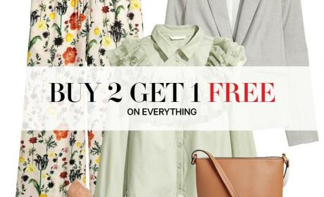 Buy 2 and get 1 Offer at H&M, January 2018