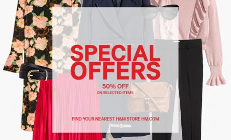 Up to 50% Sale at H&M, April 2017