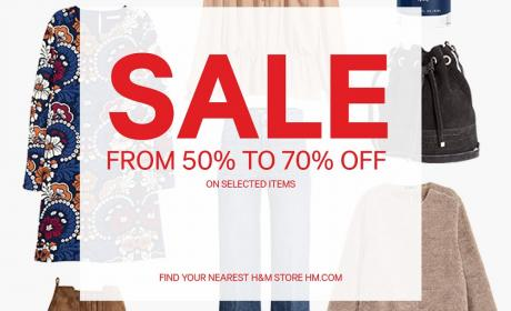 50% - 70% Sale at H&M, August 2017