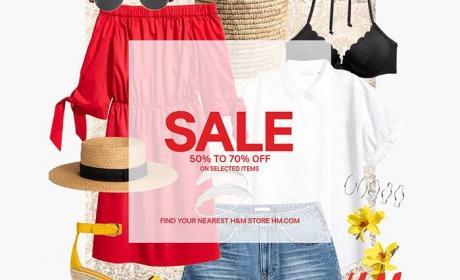 50% - 70% Sale at H&M, July 2017