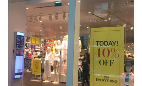 Up to 40% Sale at H&M, May 2018
