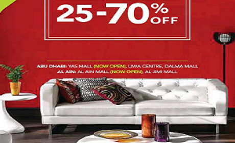 25% - 70% Sale at Home Center, May 2016