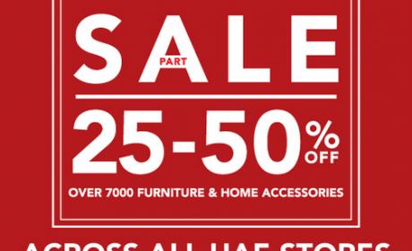 25% - 50% Sale at Home Center, September 2016