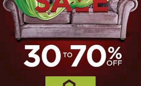30% - 70% Sale at Home Center, January 2017