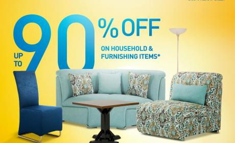 70% - 90% Sale at Home Center, July 2017
