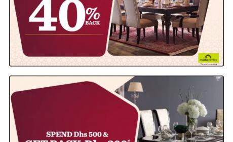 Spend 500 and get back AED 200 in gift vouchers Offer at Home Center, February 2018