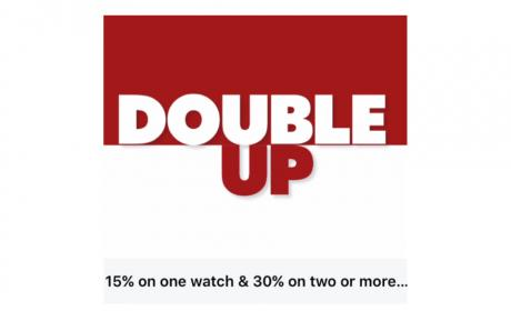 Buy 2 and Double Up your savings with discounts up to 30% Offer at Hour Choice, August 2018