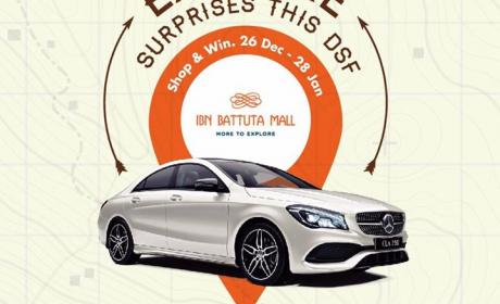 Spend 300 to win a Mercedes CLA 250 every 2 weeks Offer at Ibn Battuta Mall, January 2017