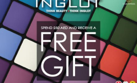 Spend 250 and receive a free gift. Offer at Inglot, November 2016