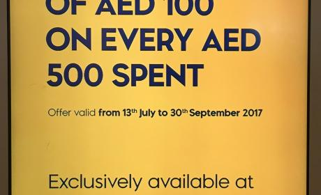 Spend 500 and get gift voucher of AED 100 Offer at jashanmal book store, September 2017